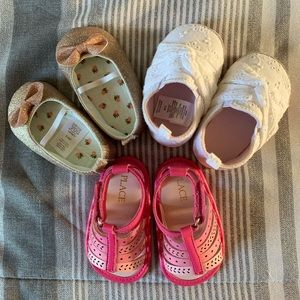 3 Pairs - Baby Shoes/Sandals